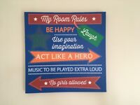 Room rules canvas picture