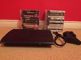 500GB jet black PS3 super slim + 26 games