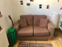 Cute small mocha-coloured sofa