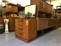 Retro G Plan chest of drawers with detachable mirror vintage teak ercol