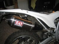 CRF250L Yoshimura RS4 full system with EJK fuel controller and K&N air filter.