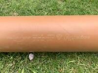Drainage pipe 110mm diameter, 2.45m length