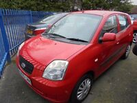 KIA PICANTO 999cc GS 5 DOOR HATCH 2005-05, FINISHED IN BRIGHT RED, LOOK ONLY 1 FORMER KEEPER