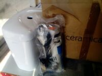 Toilet cistern with all fill and flush mechanism brand new