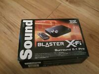 Sound Blaster X-fi Surround 5.1 Pro external sound card