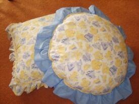 Pair of Laura Ashley Sweet Pea Cushions