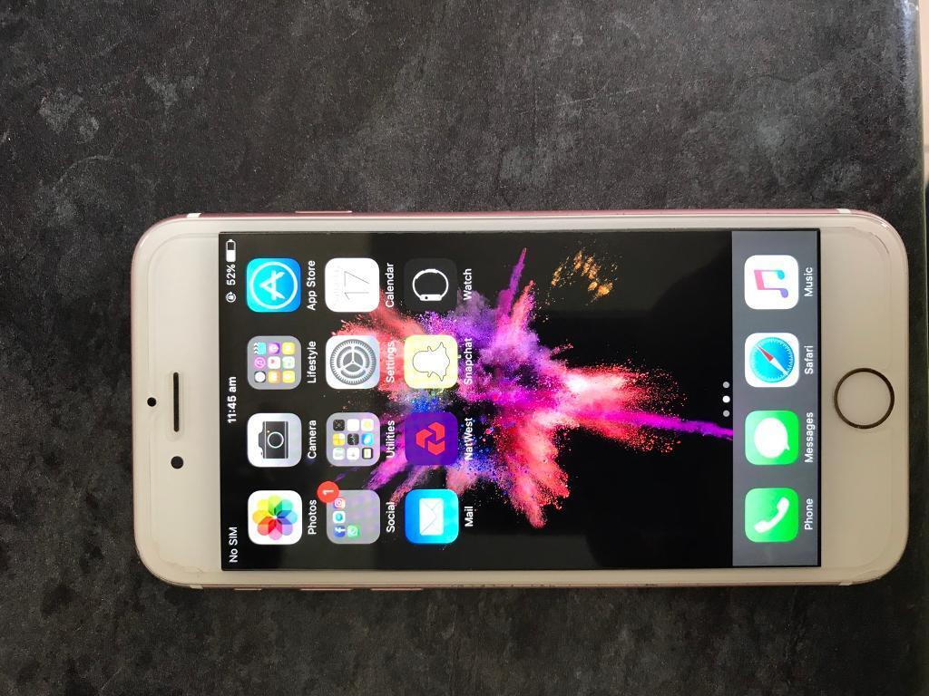 iPhone 6s rose gold 64gbin Mansfield, NottinghamshireGumtree - Brought last year for £624 used when contract phone broke. Upgraded now so longer neededFew scuff marks on edges and scar arches on back small hairline crack at bottom screen dont go to LCD. Cant even barley see it. Always had temper d glass on what...