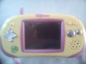 Pink Leapfrog Leapster Explorer with stylus