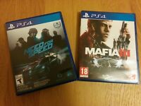 PS4 games: mafia, nfs, uncharted 4