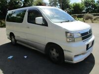 1998 R NISSAN ELGRAND 3.2 AUTO 8 SEATER LONG MOT 2 OWNERS LEATHER A/C THROUGHOUT ALLOYS PX SWAPS