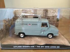 1:43 Leyland Sherpa Van - JAMES BOND COLLECTION - The Spy Who Loved Me - FABBRI
