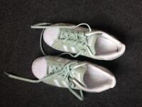 Size 4 Mint Adidas Gazelles