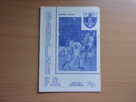 BARKING F.C. VS. ALDERSHOT. 1978 F.A. CUP SECOND ROUND PROPER FOOTBALL PROGRAMME.