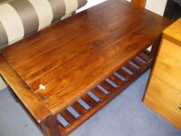 HEAVY WOODEN COFFEE TABLE at Haven Housing Trust's charity shop