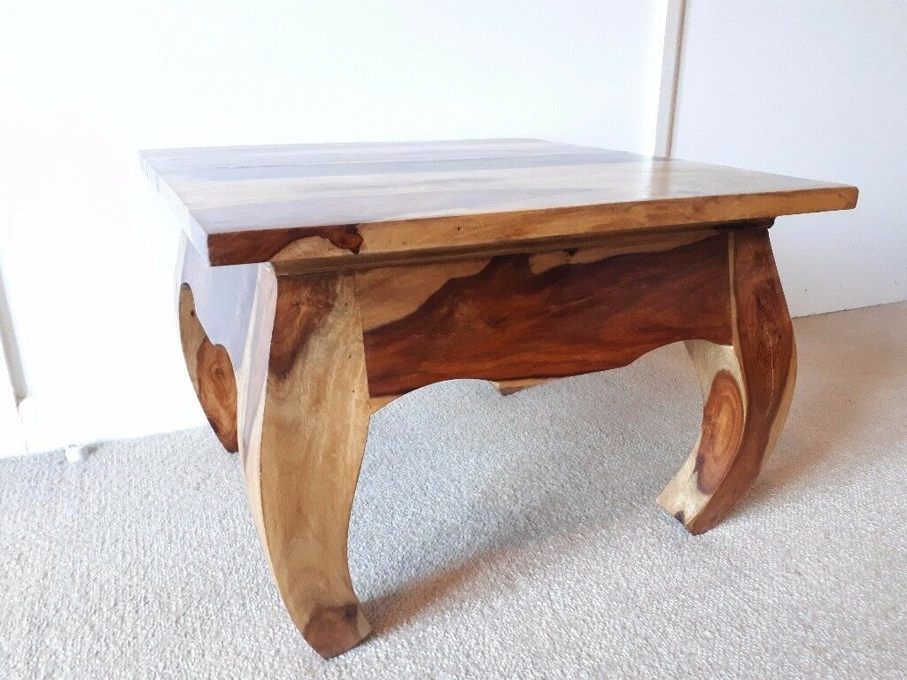 Solid Sheesham Indian Rosewood Opium Coffee Table Side