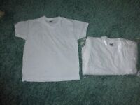 BRAND NEW - 12 x White T-shirts - 5-6 years