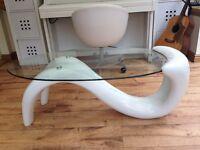 Designer white high gloss coffee table