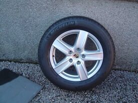 Four factory Porsche alloy wheels
