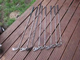 8 Slazenger Golf Clubs