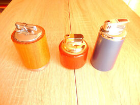 3 Cigarette Lighters (Table Lighters)