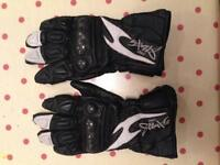 Leather Motorcycle gloves - pro sport, size s
