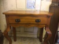 Hall table, display cabinet and matching unit