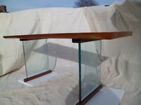 French Polished Natural Edge Handmade British Grown Wych Elm New Dinning Table.