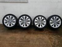 Bmw x5 alloys x4 with new runflat bridgestone 20 inch tyres msport genuine alloys