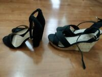 2 pairs of heels - used less than 4 times