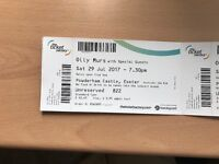 Olly Mers tickets x 4. Powderham Castle, Exeter Sat 29th July 2017