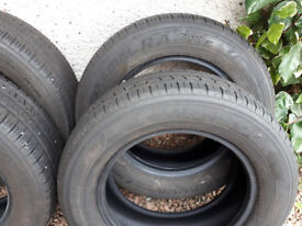 Set of 4 Used Tyres from a 2017 VW Transporter. Hankook RA28E 205/65/R16 Tyres.