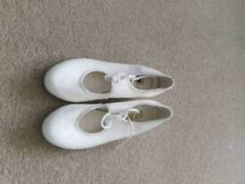 Girls tap dancing shoes