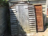 Garden shed without roof