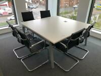 Square meeting table with 6 chairs