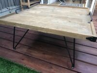 Bellange Reclaimed Wood Industrial Coffee Table