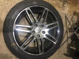 """Audi 17""""Alloys with tyres"""