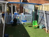 Swings and Seasaw Set - £50