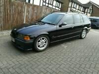 1998 BMW e36 323i touring msport black drift stance modified