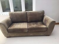 SOFA (NEXT) 2/3 seater in mink colour upholstered fabric