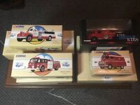 7 X CORGI fire service ltd Edition collectors items, mint and boxed.