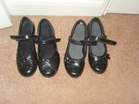CLARKS BLACK PATENT SHOES