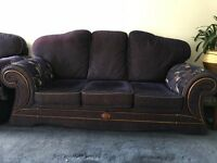 3 seater 2 seater and 1 seater sofa Navy Blue Colour Reversible Cushion