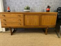 Retro mid century sideboard drinks cabinet on raised legs