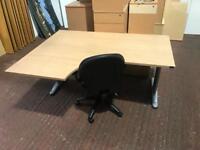 1400mm Curve Desk On Metal Frame