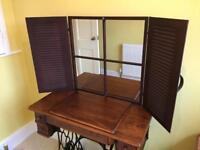 Vintage French Window Style Wall/Desk mounted Mirror