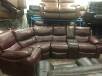 4 seater reclining corner sofa with Cup holders