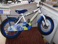 apollo police patrol bicycle with flashing lights as new condition