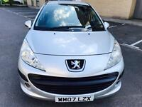Peugeot 207 S 1.4, 2007, petrol, Long Mot, Recently Serviced, Full Service History