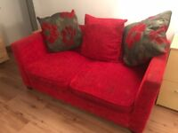 Red 2 Seater Sofa Bed (DFS)