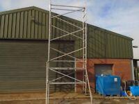 narrow scaffold tower 7m working